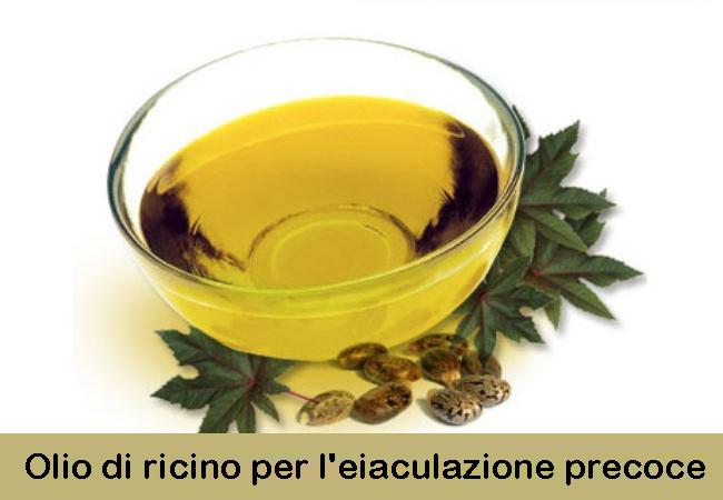 Olio di ricino per l'eiaculazione precoce