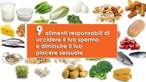 9 alimenti responsabili di uccidere il tuo sperma e diminuire il tuo piacere sessuale